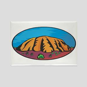 Uluru Rectangle Magnet