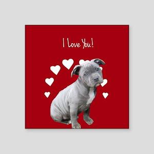 Love You Pitbull Puppy Sticker