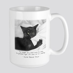 Optimistic Cat-And-Quote Large Mug
