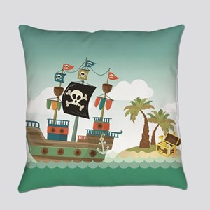 Pirate Ship Everyday Pillow