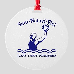 VENI-NATAVI-VICI Round Ornament