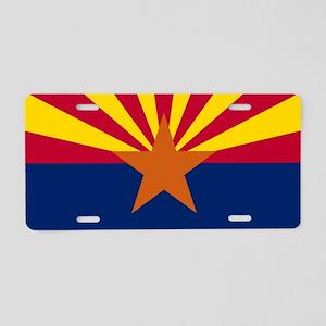 Arizona: Arizona State Flag Aluminum License Plate