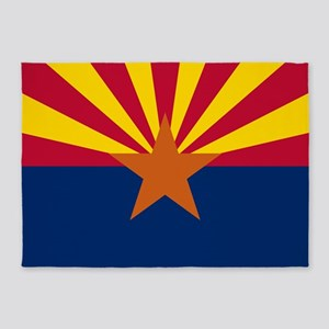 Arizona: Arizona State Flag 5'x7'Area Rug
