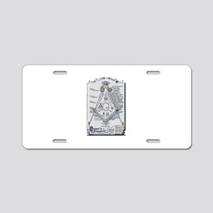 Structure of Freemasonry Aluminum License Plate