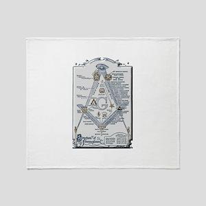Structure of Freemasonry Throw Blanket