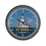 Chicago Breakwater Light Wall Clock