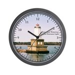 Keweenaw Waterway Lower Entrance Light Wall Clock