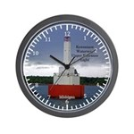 Keweenaw Waterway Upper Entrance Light Wall Clock