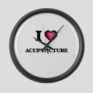 I Love Acupuncture Large Wall Clock