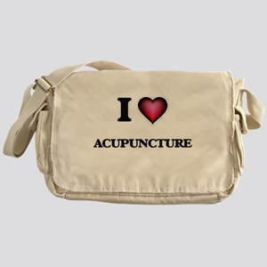 I Love Acupuncture Messenger Bag