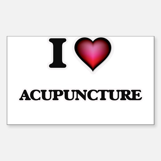 I Love Acupuncture Decal