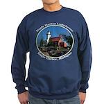 Eagle Harbor Lighthouse Oval Sweatshirt (dark)