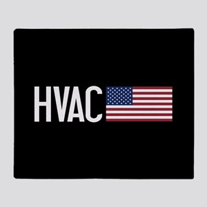 HVAC: HVAC & American Flag Throw Blanket