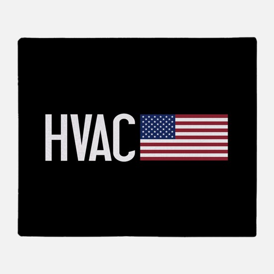 HVAC: HVAC & American Flag Throw Blanket