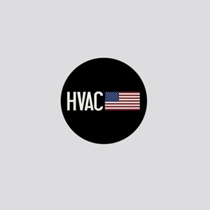 HVAC: HVAC & American Flag Mini Button