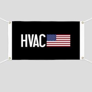 HVAC: HVAC & American Flag Banner