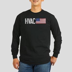 HVAC: HVAC & American Fla Long Sleeve Dark T-Shirt