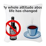 attitude-life-changed Woven Throw Pillow