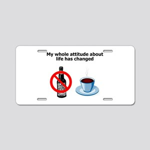 attitude-life-changed Aluminum License Plate