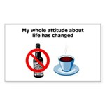attitude-life-changed Sticker (Rectangle 50 pk