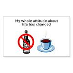 attitude-life-changed Sticker (Rectangle 10 pk