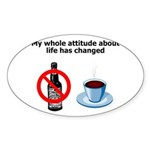 attitude-life-changed Sticker (Oval 50 pk)
