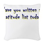 gratitude-list Woven Throw Pillow