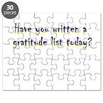 gratitude-list Puzzle