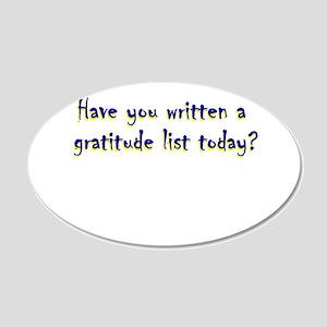 gratitude-list 20x12 Oval Wall Decal
