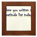 gratitude-list Framed Tile