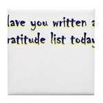 gratitude-list Tile Coaster