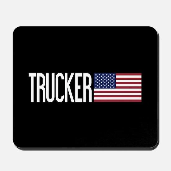 Trucker: Trucker & American Flag Mousepad
