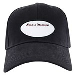 need-a-meeting Black Cap with Patch