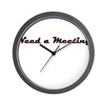need-a-meeting Wall Clock