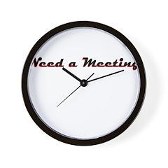 need-a-meeting Wall Clock
