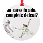 complete-defeat Round Ornament
