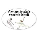 complete-defeat Sticker (Oval 50 pk)
