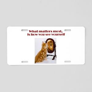 cat-lion Aluminum License Plate