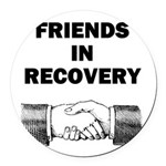 FRIENDS-RECOVERY Round Car Magnet