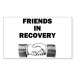 FRIENDS-RECOVERY Sticker (Rectangle 10 pk)