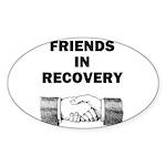 FRIENDS-RECOVERY Sticker (Oval 50 pk)