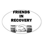 FRIENDS-RECOVERY Sticker (Oval 10 pk)