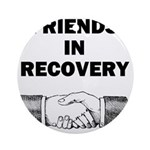 FRIENDS-RECOVERY Round Ornament