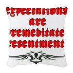expectations Woven Throw Pillow