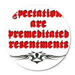 expectations Round Car Magnet