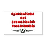 expectations Rectangle Car Magnet