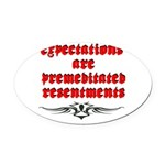 expectations Oval Car Magnet