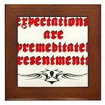 expectations Framed Tile