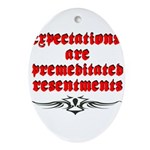 expectations Oval Ornament