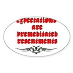 expectations Sticker (Oval)